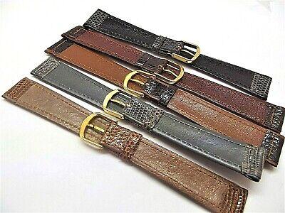 Cinturini stampa lucertola filettata piatti ansa 16 18 o 20 mm  watch strap 4