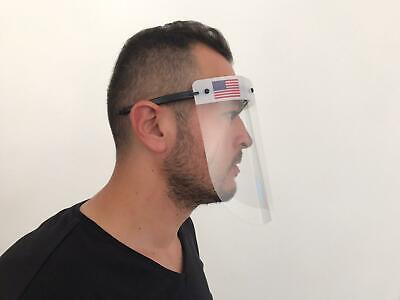 Safety Full Face Shield Clear Flip-Up Visor Transparent Medical Dental Mask 3