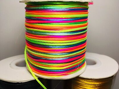 10M Of 1mm Rattail Satin Silk Cord Thread - Kumihimo And Macrame Crafts 2