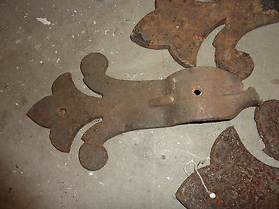 "c1879 CAST IRON oak leaves HARTFORD CT CAPITAL building great 4 projects 33""h"