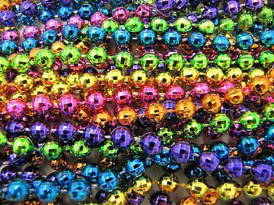 "Mardi Gras Beads Bright Neon Disco 6 Dozen 33"" Parade School Party 72 Necklaces 2"