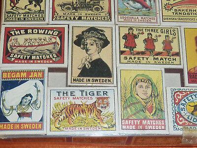 47 Streichholzschachteln Sammlung Reklame Werbung um 1900 Automobilia etc. 9