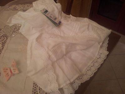 Vestitino bianco bimba Benetton 6-9 mesi 5