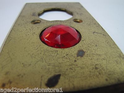 Antique Architectural Red Jeweled Glass Electrical Switch Cover Outlet Hardware 10