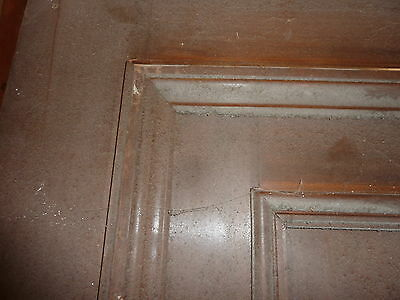 """c1902 antique MAHOGANY door BEAUX ARTS mansion 81.5 x 24 x 1.75"""" original FINISH 3"""