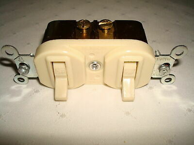 Vintage Leviton  Bakelite 2 Single Pole Quiet Toggle Switches New Old Stock 2