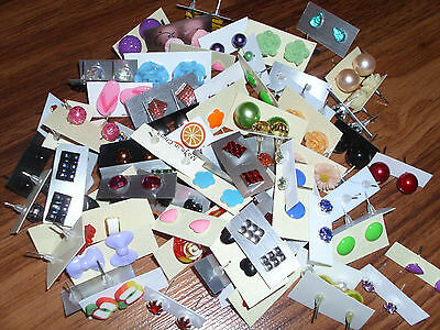 s**SPECIAL OFFER ** WHOLESALE LOT STUD EARRINGS 50 PAIRS 4