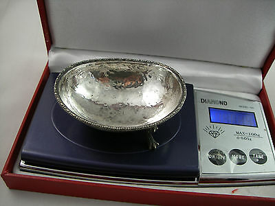 VINTAGE BEAUTIFUL 800 silver oval salt of 18th Century design 11