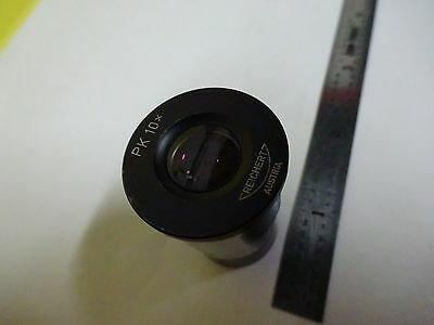 Optisch Mikroskop Teil Reichert Austria Okular Pk 10x Optik wie Ist Bin #X2-26 3