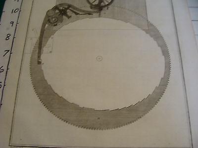 """Original engraving 1760's 10 1/2 x 16"""" PENDULE A EQUATION PAR LE SIEUR BETHOUD 3"""