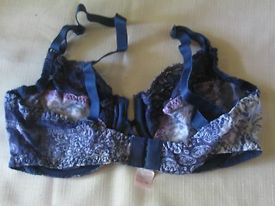 Fruit Of The Loom For Avon *stretch Lace Under-Wire Bra 34 C*denim Print*nip*