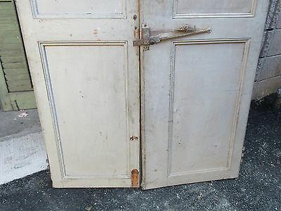 """pAIR ~ LATE 19th century antique furniture CABINET DOORS 74.5"""" x 21"""" & 18.25"""" 3"""