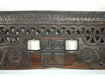 16/17th Century Antique Carved Wood Architectural Decorative Panel 11