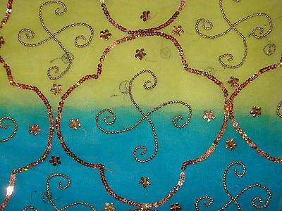 Bn Ladies/girls Net Saree & Blouse With Beadwork & Sequences 6
