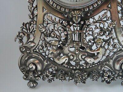 "12"" Silver Brass Statue Strutt Clock. Fine quality fully restored antique. c1900 6"