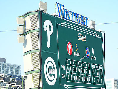 7 25 2015 PHOTOCOPY of TED'S SCORECARD CUBS COLE HAMELS PHILLIES NO HITTER NO NO 3