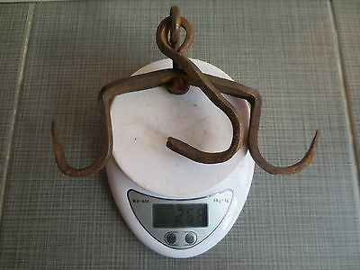ANTIQUE 19th CENTURY Hand Forged Wrough Iron Hook Hanger Old Fireplace Vintage 9 • CAD $25.07