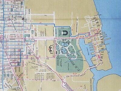 Philadelphia & Vicinity Street Car &. Subway map 1956 PTC Transit VGC Large 5