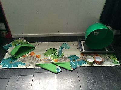 DT  Hedgehog Starter Set,wheel,tray,bowls,bed,tunnels,liners Blankets Or Worms 4