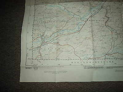 "Ordnance Survey Map 2.5"" SO19 Newtown 1951 Inc. Abernule Dettws Cedewain Pennant 3"