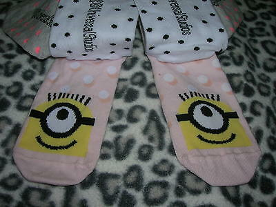 3 Pairs Socks Minion Size EU 22/24 H&M 3