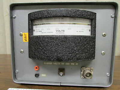 Electrostatic Voltmeter ESH KiloVolts Sensitive Research 0-2kV In Carrying Case 2