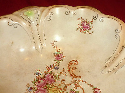 Antique Large Crown Ducal Fruit Bowl Dish 1920's 30's with Slight Repair
