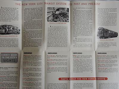 1958 New York Subway Map.Rare Mint Nycta 1958 New York City Nyc Brooklyn 16x20 Subway Map