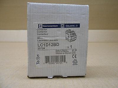 1 NIB TELEMECANIQUE LC1D12BD LC1-D12BD CONTACTOR 24V 5,5KW//400V 7.5HP//460V