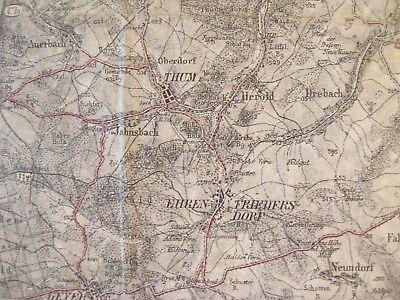 Karte Chemnitz Und Umgebung.Alte Landkarte Karte Sachsen Umgebung Von Chemnitz Marienberg Oederan Von 1894