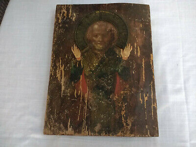Antique Russian Icon Orthodox Christain Religious Large Icon USSR 44cm 2