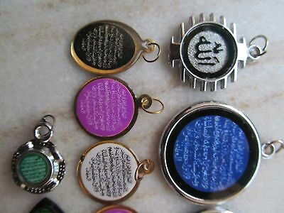 Tribal Ayaat Quran Islamic Holy Spiritual Metal Amulet Necklace Pendent Lot 12P 3 • CAD $63.23