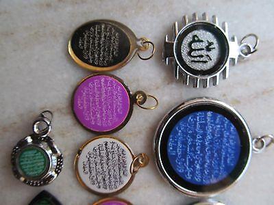 Tribal Ayaat Quran Islamic Holy Spiritual Metal Amulet Necklace Pendent Lot 12P 3