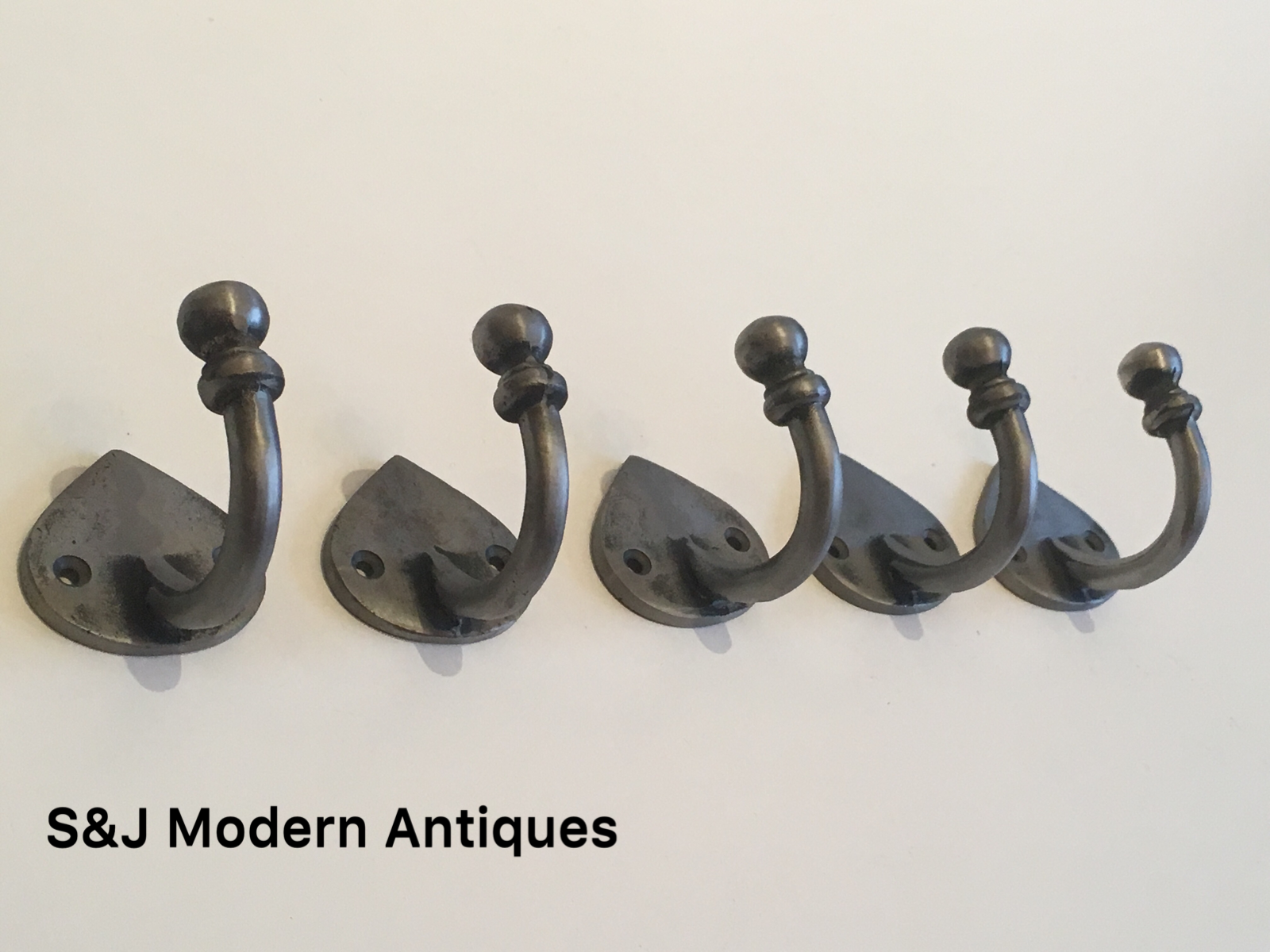 Single Coat Hook Iron Antique Modern Spearhead Vintage Black Grey Hat Rack Set 5 10