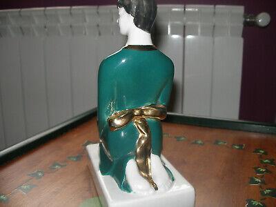 figura ceramica geisha tamaño 15x25 cm como nueva 2