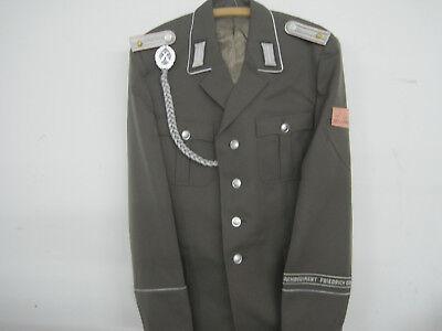 NVA Uniform-Jacke Gr.52 Fr. Engels Fasching Ostalgie Schützenschnur Effekten FDJ