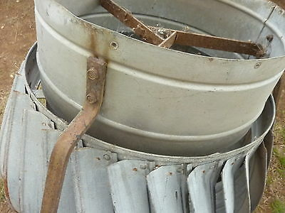 "c1900 salvage Metal CIRCULAR round BARN rotating vent 24"" h x 16"" dia"