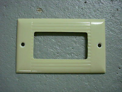 Vintage Uniline Ivory Decora GFCI Switch Outlet Cover Plate Sierra Ribbed 2