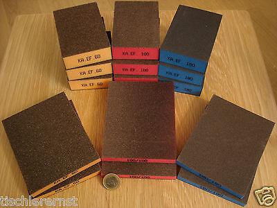 15 Stück MAXI Set 6 Schleifmatten Pads Körnung 60 100 180 ! 9 Schleifschwämme