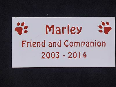 Personalised Pet Memorial Plaque with Cat Prints - Various Colours 5