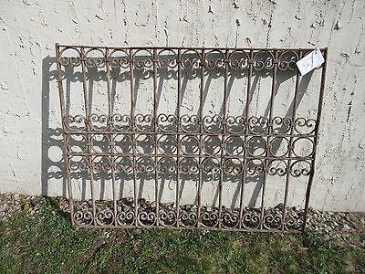 Antique Victorian Iron Gate Window Garden Fence Architectural Salvage Door #367 5