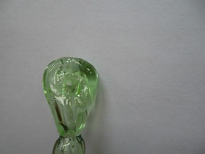 rare pretty and unusual handmade GREEN glass flower chandelier drop (D286) 2