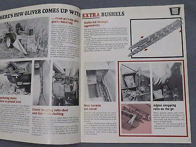 original 1964 Oliver 74 Mounted Corn Picker sales Brochure Catalog