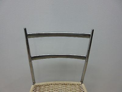 Vintage Mid Century Chrome Italian Ladder Back Dining Side Desk Chair 4
