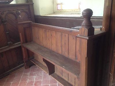 Victorian Church Neo Gothic Pew chapel settle bench Elders Seat TallSlimBookcase 5