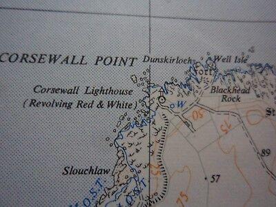 "Ordnance Survey 2.5"" Map NX07 Mouth Loch Ryan 1961 Milleus Point Corsewall Poi 3"