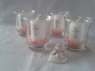 Votivglas  Buchsbaumfische Kerze Fisch Kreuz Taufe,Kommunion Konfirmation