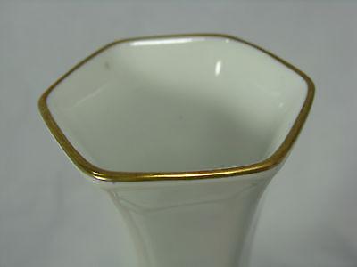 Formschöne 60´s Design J. Seltmann Vohenstrauß Porzellan Vase Poliergold 18 cm