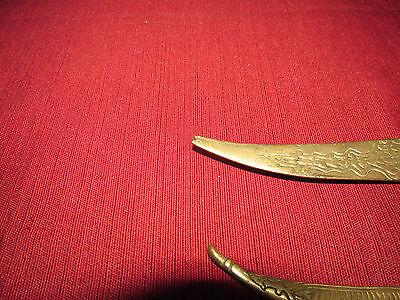 Antique Russian/persian Letter Opener Knife Kinjal, Heavy Brass 10