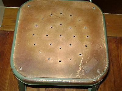 Antique Green Industrial Metal Machinist Stool Pinterest Repurpose 3